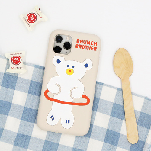 Brunch Brother 슬림핏 실리콘 케이스 for i-Phone 11, 11pro